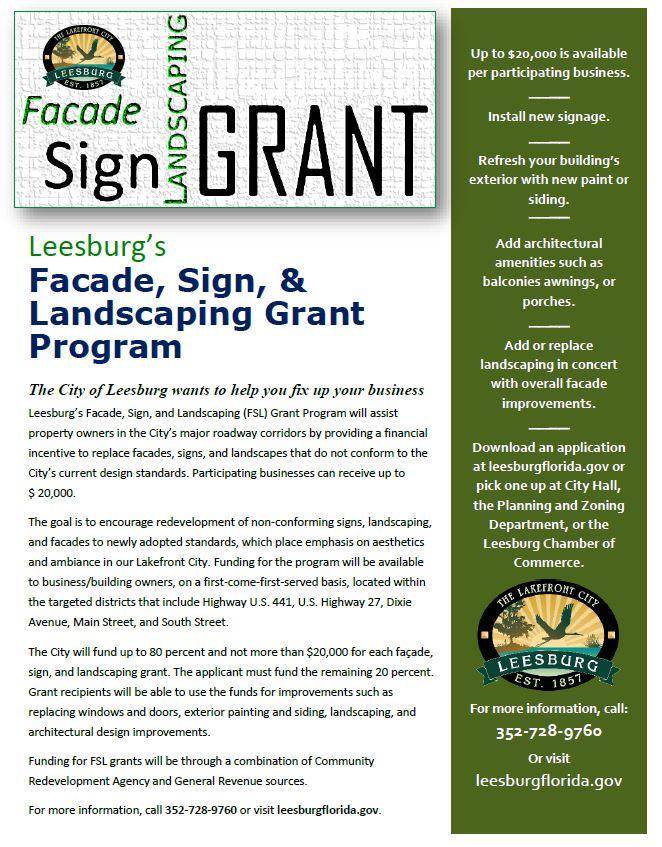 Facade grant flyer
