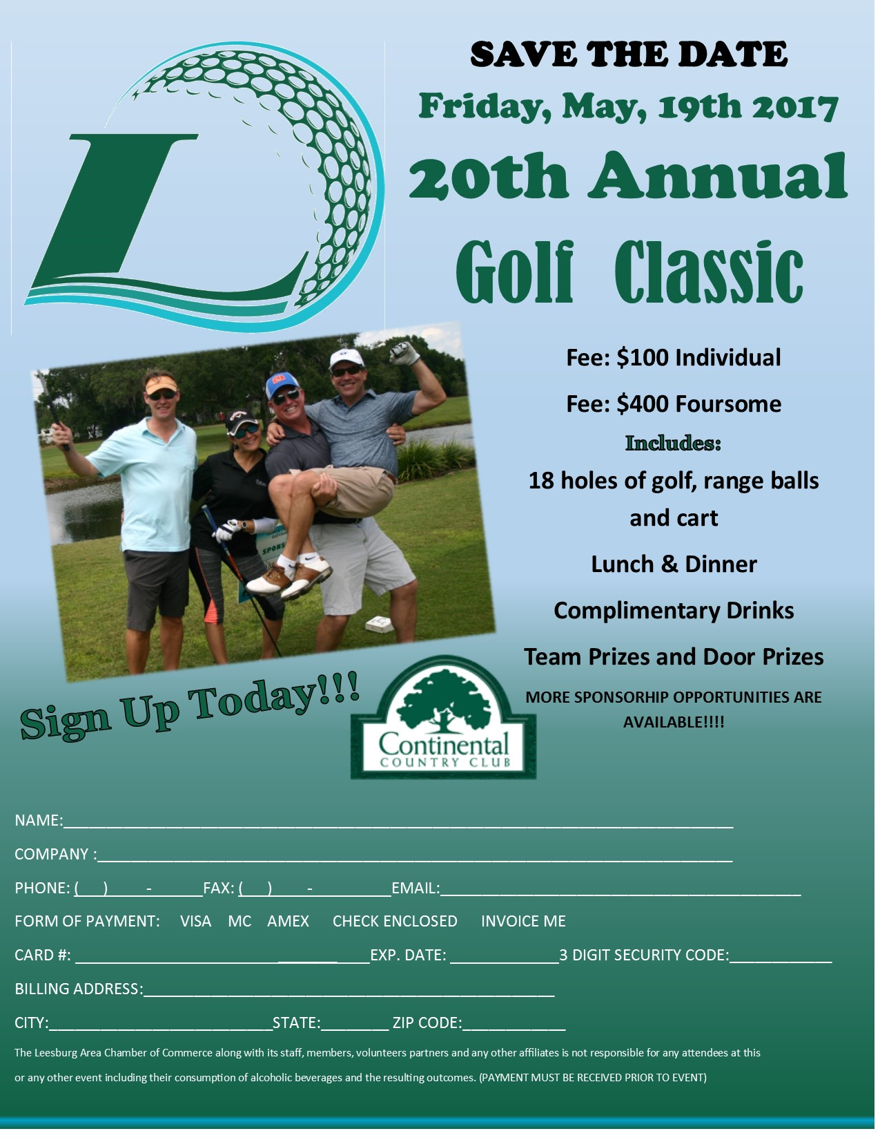 Golf Classic Save the Date and SignUp