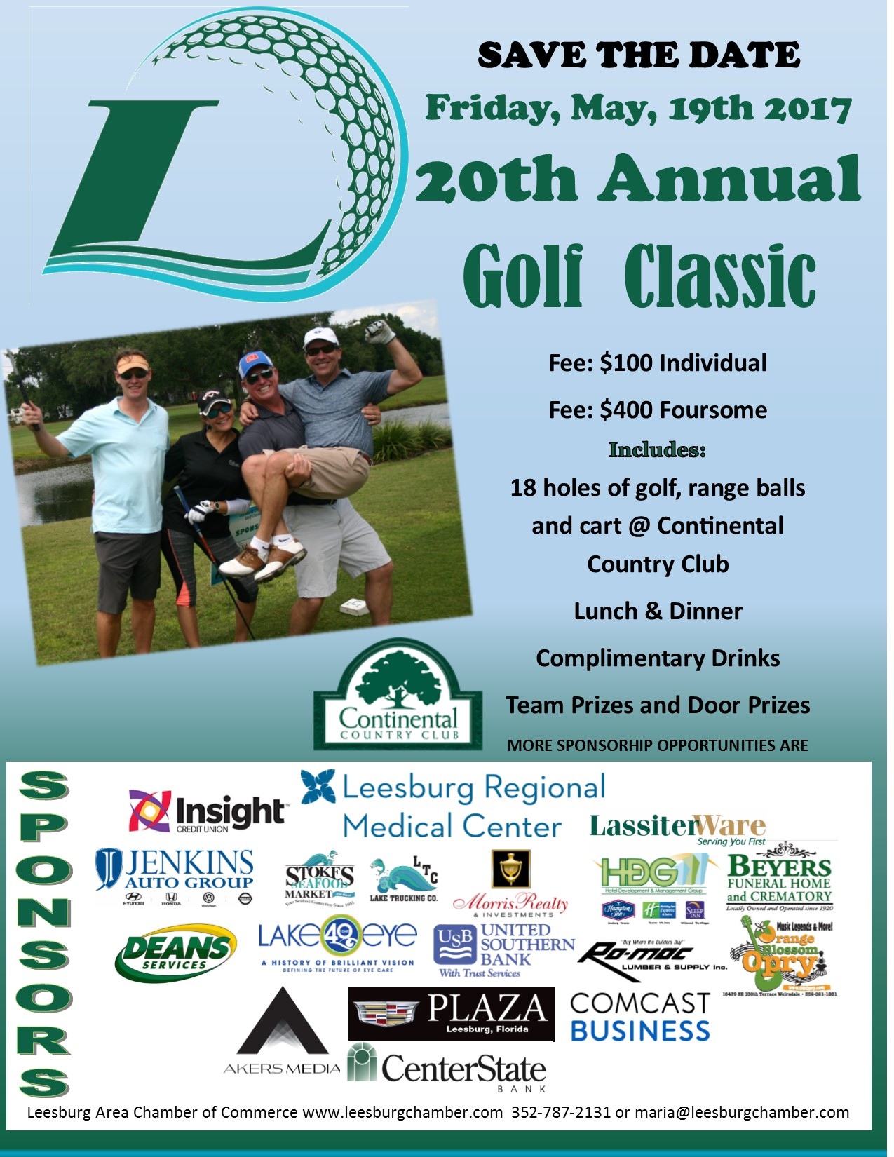 Golf Classic Save the Date flyer