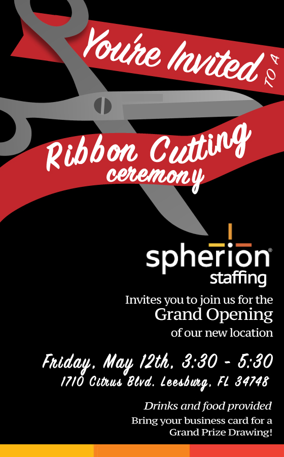 Spherion Staffing Ribbon Cutting - For-Chamber (1)